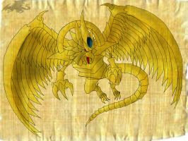 Winged dragon of Ra by Nami-v