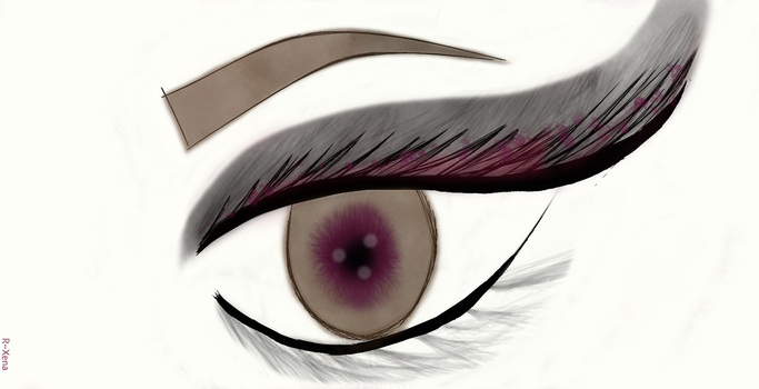 Mouse painting ~Eye by Ros3X3na
