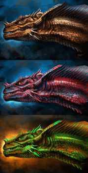 Dragon Illustration concepts by cgfelker