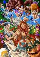 League of legends pool party by Arrietart