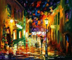 Sideways by Leonid Afremov by Leonidafremov
