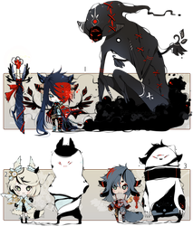 [CLOSED] ADOPT AUCTION 120 - Shadowmonsters by Piffi-sisters
