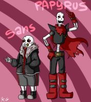 Sans and Papyrus - UF Speedpaint by Kaitogirl
