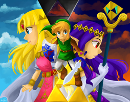 The Legend of Zelda: A Link Between Worlds by Elena114