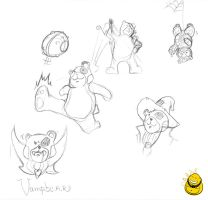 Liddl Bear sketches by LiddlBuddha
