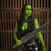 Guardians of the Galaxy Gamora bodypaint  by MarquisDeZod