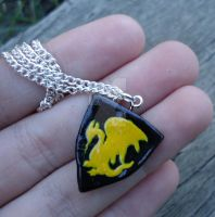 Pendragon Shield Necklace by geeekalicious