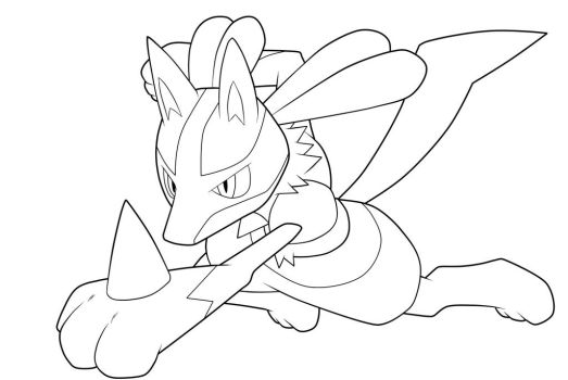 Lucario. :Lineart: by moxie2D