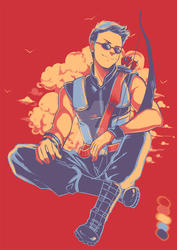 Color Palette Challenge : Clint Barton by xPrincessSakurax