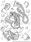 Open Book, Reveal Magic Lineart by Nightlyre