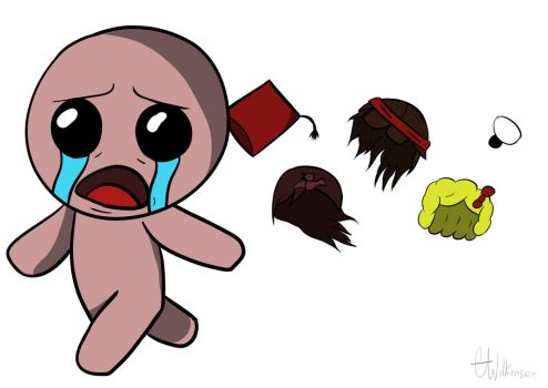 Binding of Issac (Running from himself) by hazzajames