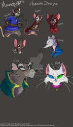 Mouseheart - Character  Designs by JB-Pawstep