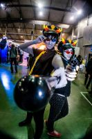 Trollcops Sollux and Terezi Cosplay by Sioxanne