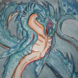 Water Dragon by guinea-pig-girl
