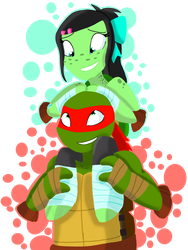 BDAY COLORED GIFT: Lindsey and Raph by Smileverse