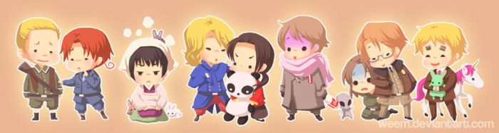 Hetalia Bookmark '09 by weem