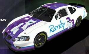 Rarity Nascar - Front by Framwinkle