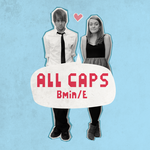 ALL CAPS CD cover pale blue. by NaomiFuller