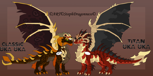 FC: Uka Uka Dragonfied Forms by StephDragonness