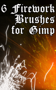 6 Gimp Brushes: Fireworks by Shift-ing