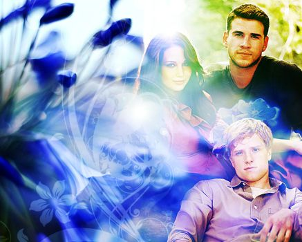 The Hunger Games. Katniss, Gale and Peeta by StalkerAE