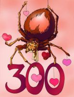 Happy 300 and Valentine's by melukilan