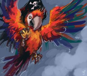 pirate parrot by Aeyolscaer
