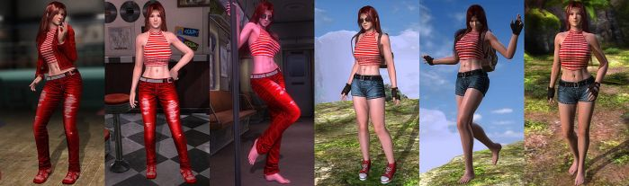 DOA5LR Mod: Red Racer Pack (NEW) by repinscourge