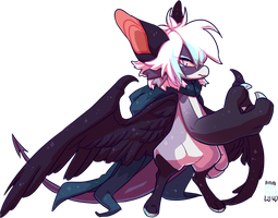 #177 Fornlee w/m - Black Wings by Kitkabean