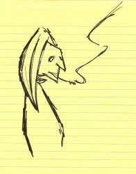 Doodles: Smoking Guy by Insomnia69