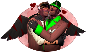 {SFM} Spy Hugs by GreenStorm64