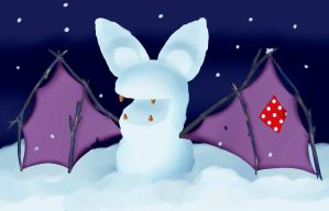 Snow Zubat by Little-Papership