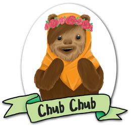 Chub Chub, the Ewok bounty hunter by Metakarp