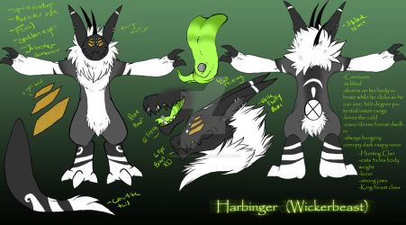 :Harbinger: Reference Sheet (New O.C) by SafireCreations