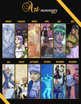 2016 in Webcomic Art by ErinPtah