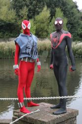 Scarlet Spider and Miles Morales by joker99xdraven