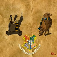 Ravenclaw and Hufflepuff by WulfFather