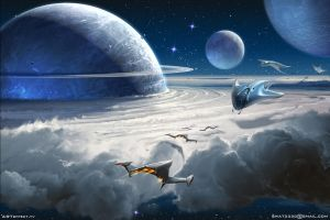 Space dust cloud by Sviatoslav-SciFi