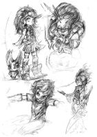 Random character sketches 2 by WhiteLeyth