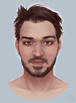 Face Study by Blunell