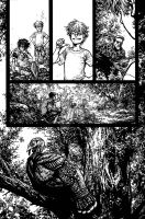The Cape: Fallen Issue #3 page 2 inks by Spacefriend-KRUNK
