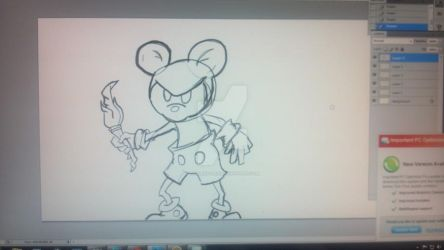 In progress Epic Mickey by TollersTree