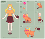 Unicat - Harper Reference Sheet - WIP by xavs-pixels