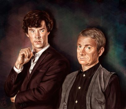 Holmes and Watson by andycwhite