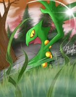 Finished Sceptile. by Pencil-Alchemist