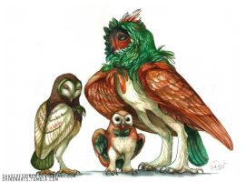 Rowlet Family by ShadeofShinon