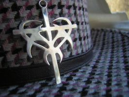 Tribal cross in silver by LARvonCL