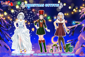 MCL UL pack- Christmas outfits by FNAFfanart67