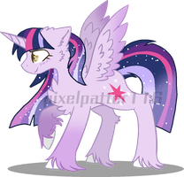 Mlp redesign AU: twilight sparkle by Pixelpatter116