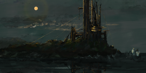 The Site at Night by RafaelVinz